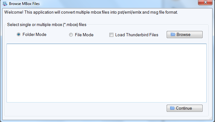 MBOX to Outlook Converter full screenshot
