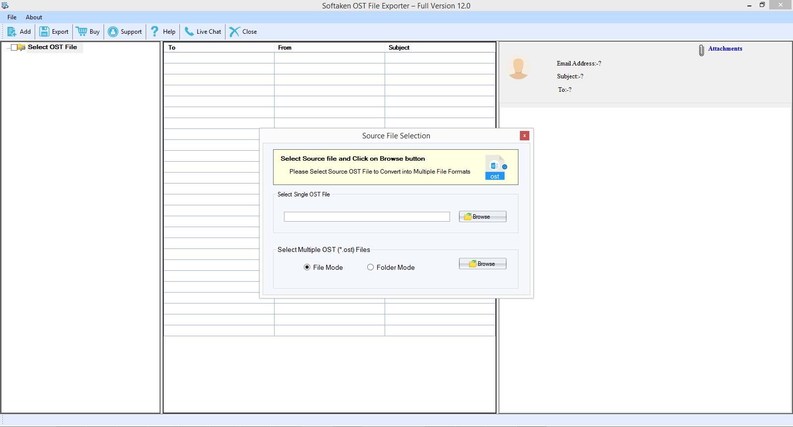 OST to MBOX Converter full screenshot