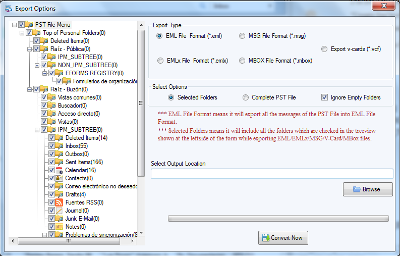 Softaken Outlook PST Converter full screenshot
