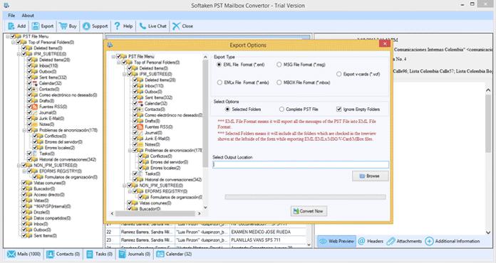 Outlook PST to MSG full screenshot