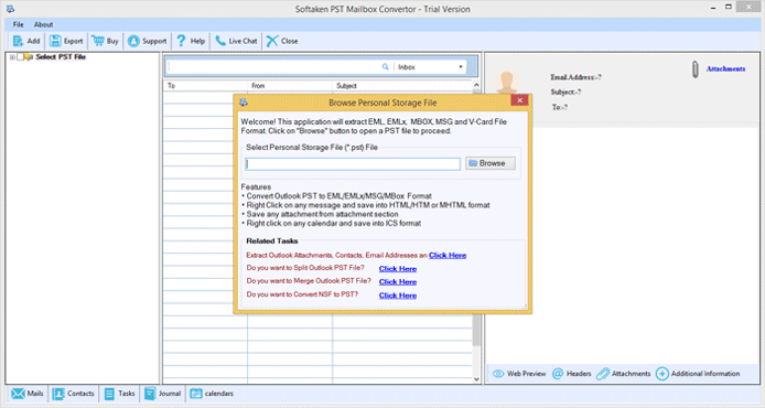 Outlook PST to EML Converter full screenshot