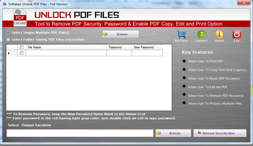 Softaken PDF Unlocker
