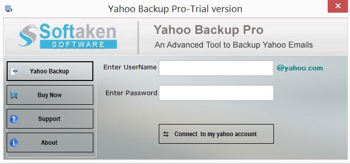Softaken Yahoo Backup Tool Screenshot