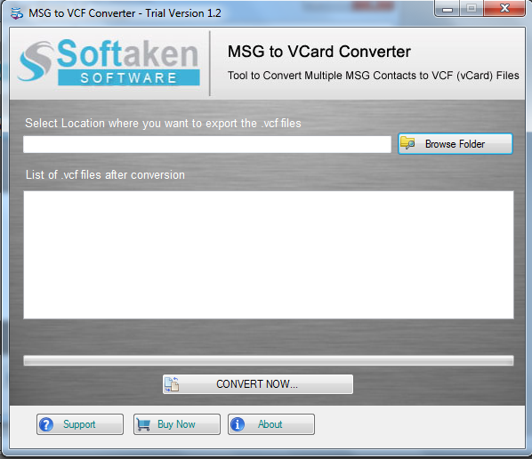 MSG to vCard Converter is Mass MSG Contacts to VCF file