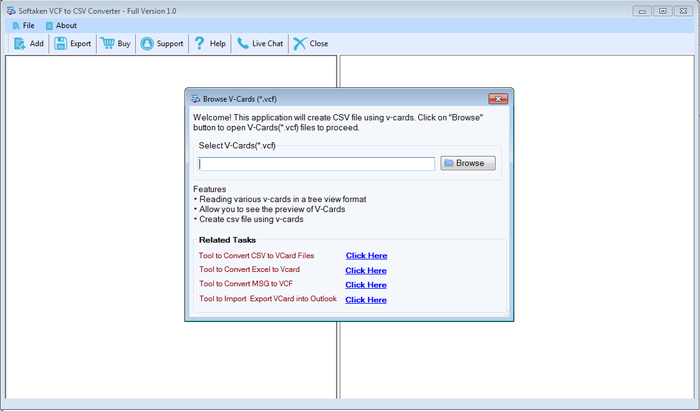 VCard to CSV Converter Supper Supportive vCard Converter to create
